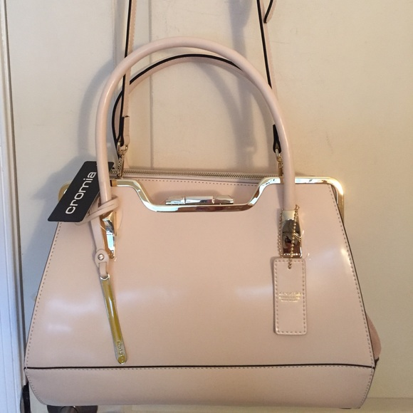 check out d790c ae129 Cromia beige patent leather satchel NWT NWT